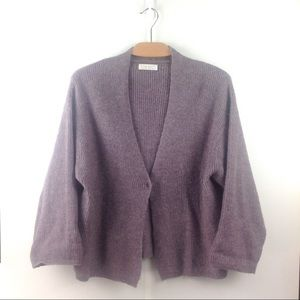 Oak + Fort Mauve Purple Wool Blend Cardigan XS